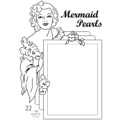 Pink Persimmon Clear Stamp 7.6cm x 10cm Sheet-Mermaid Pearls