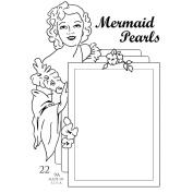 Pink Persimmon Clear Stamp 7.6cm x 10cm Sheet-Mermaid Pearls