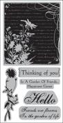 Autumn Leaves Cling Rubber Stamp 4.25X9.5/Pkg - Secret Garden