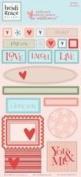 Heidi Grace Designs Embossed Shapes Cardstock Stickers - Wildflower