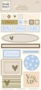 Heidi Grace Designs Embossed Shapes Cardstock Stickers - Woodland