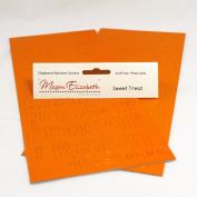 SWEET TREAT CHIPBOARD ALPHABET STICKERS Megan Elizabeth New