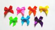 100 Pcs - Cute Satin BOW Ribbon Applique Embellishment Decoration - Size 20mm X 25 Mm