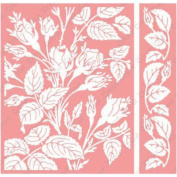 Cuttlebug A2 Embossing Folder/Border Set Anna Griffin Mayfair Floral