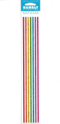 Multicoloured Lines Borders Sparkle Scrapbook Stickers