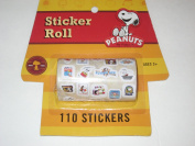 Peanuts Snoopy Sticker Roll 110 Stickers - Party Favours - Arts & Crafts
