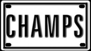 Champs 5.7cm X 10cm Aluminium Die-cut Sign""