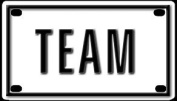 Team 5.7cm X 10cm Aluminium Die-cut Sign""
