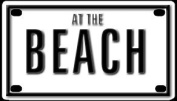 At The Beach 5.7cm X 10cm Aluminium Die-cut Sign""