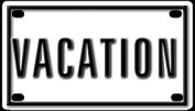 Vacation 5.7cm X 10cm Aluminium Die-cut Sign""