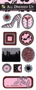 DCWV EM-026-00010 All Dressed Up Glitter Pop-Up Stickers, Lipstick