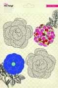 On Trend Paper Flowers 4/Pkg-