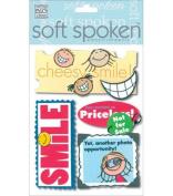 Me & My Big Ideas Soft Spoken 3 Dimensional Embellishments-Kid's Smile