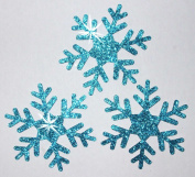 1 Pack = 3 Glitter 5.1cm Snowflake Iron-On