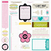 Engaged At Last Cardstock Stickers 30cm x 30cm -Just Write Journaling