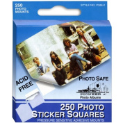 250 White Photo Mounting Squares - Photo Corners & Squares - Sold individually