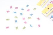 Baby Bear Colourful Acrylic Diecut Embellishments