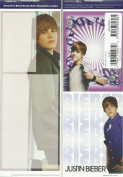 JUSTIN BIEBER MEMO DECALS (REVOMABLE & REVERSABLE DRY ERASE! (1 PACK - 2 SHEETS)