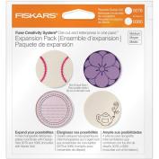 Fiskars 101010-1001 Circle Design Plate Expansion Pack, Medium, 4-Pack