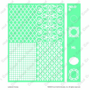 Cuttlebug Cricut Embossing Folder and Border, 13cm by 18cm , Labels and Frames