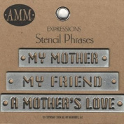 Metal Stencils - Mother - Gun Metal