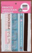 Printed Grosgrain Ribbon - Friends