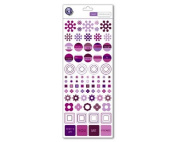 Colour Theory Collection - Tattoos Rub-ons - Violet Geometry