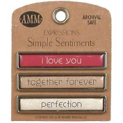 Simple Sentiments - I Love You/Together Forever/Perfection