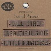 Metal Stencils - Girl (Bronze)