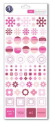 Colour Theory Collection - Tattoos Rub-ons - Pink Geometry