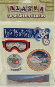 Alaska Scrapbooking Craft Stickers 3-d Shakers Stickers