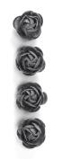 Jolee's Boutique Dimensional Stickers, Grey Felt Rose