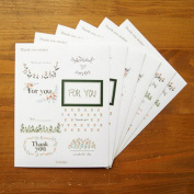 Thank You Sticker Set, Flower Sticky Note - Pack of 6 sheets for Scrapbooking