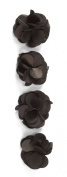 Jolee's Boutique Dimensional Stickers, Chocolate Satin Flowers