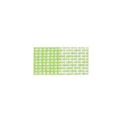 Checker Paper Burlap 27cm X 5 Yards-White/Apple Green