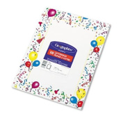 Geographics Design Paper, Party, 24 lb, 22cm x 28cm , 100 Sheets per Pack