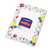 Geographics Design Paper, Party, 24 lb, 22cm x 28cm , 100 Sheets per Pack