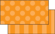 Teacher Created Resources Orange Sassy Solids Double-Sided Border