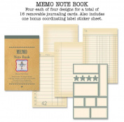 Memo Note Book 7.6cm by 12cm , Grey