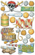 Creative Imaginations Renae Lindgren Pirate Collection Epoxy Stickers - Ahoy