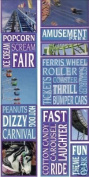 Amusement Park Photo Banner Cardstock Scrapbook Stickers