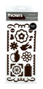Thickers Chit Chat Puffy Accents Stickers- Chestnut