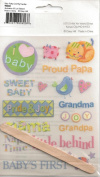 Baby Polka Dot Pig Rub-ons for Scrapbooking