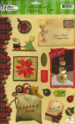 Vintage Christmas Cardstock Scrapbook Stickers