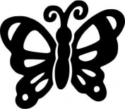 Decorative Stamp Whimsical Butterfly