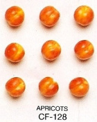 APRICOTS - Ceramic Fruit - Pack of 12