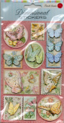 Punch Studio 3D Layered Stickers Dimensional Butterflies with Glitter