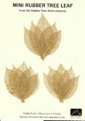 COPPER MINI RUBBER TREE LEAVES - Pack of 15