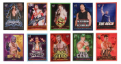 WWE Westling Trading Card Style Stickers - Set of 10