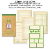 Memo Note Book 7.6cm by 12cm , Green